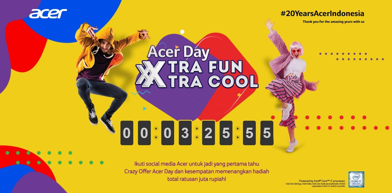 Tampilan Website Acer Day 2019
