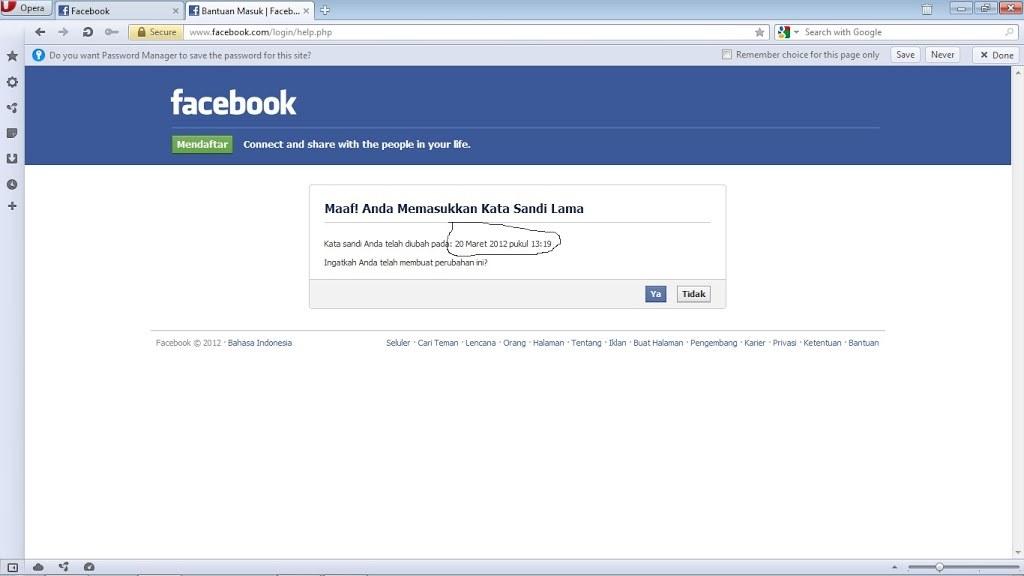 Mengatasi FB yang di Hack