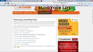 Pengumuman Lomba Blog Sotoji