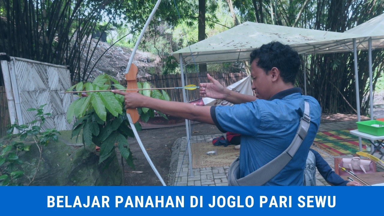 Belajar Panahan di Joglo Pari Sewu