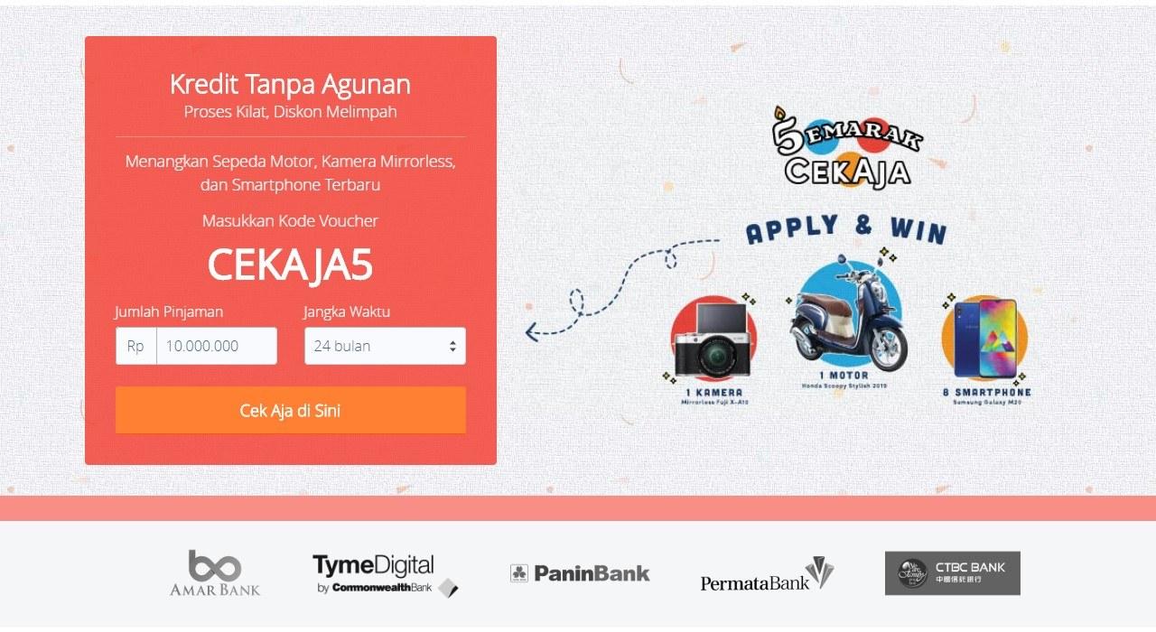 Tampilan Website CekAja.com