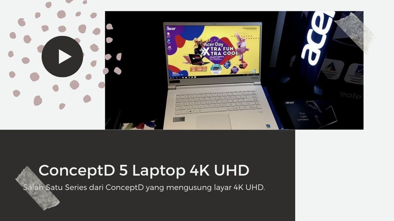 ConceptD 5 Laptop 4K UHD Series