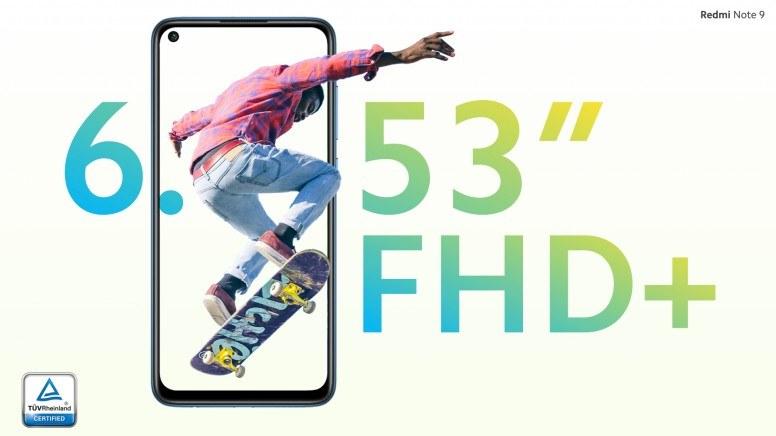 Layar Redmi Note 9 FHD+