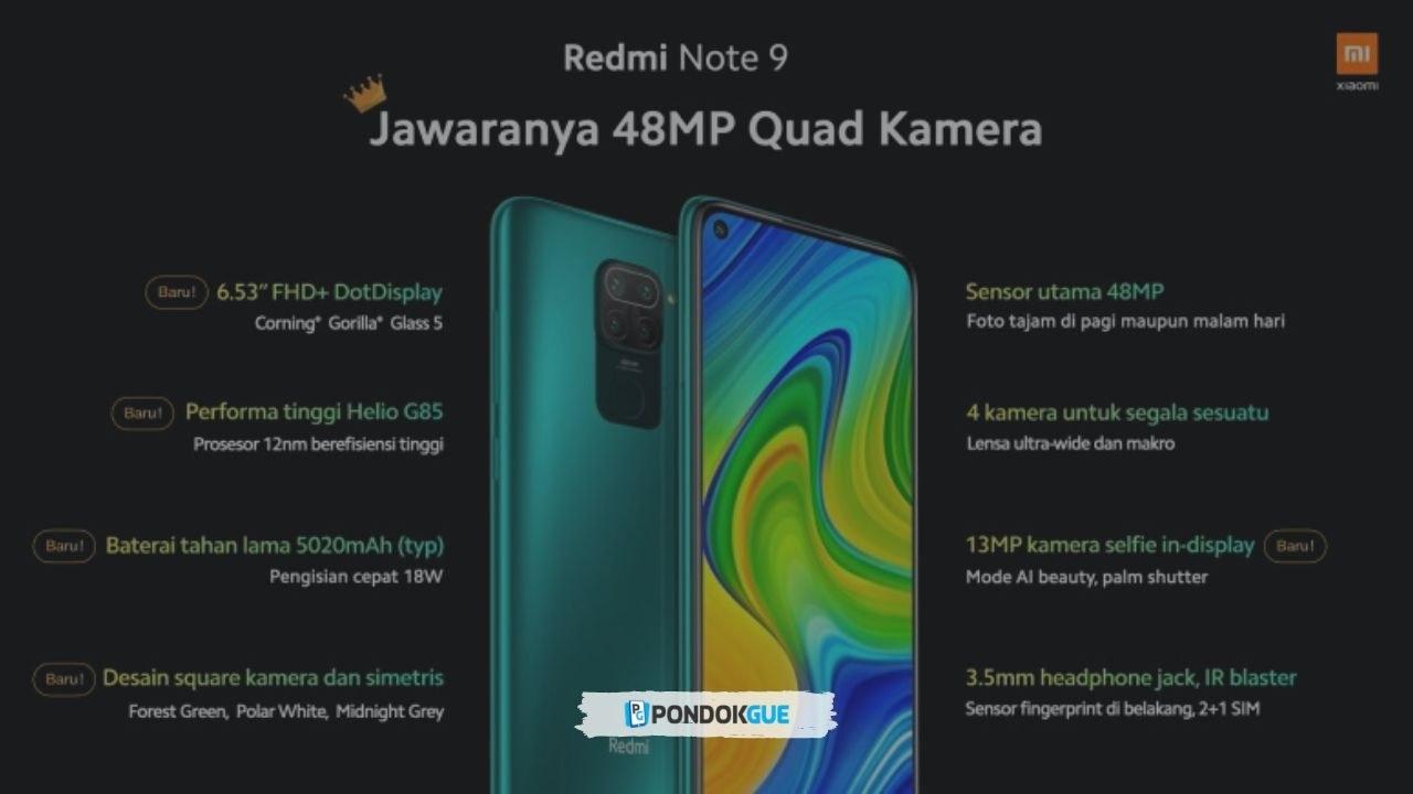 Redmi Note 9; Harga, Spesifikasi dan Review Lengkapnya